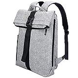 REYLEO Rucksack Herren Und Damen Daypack Sporttasche für Laptop 15.6 Zoll mit unabhängigem Fach und erweiterter Kapazität Beutel Tasche Mode Wasserdichtes Grau