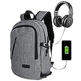 "15.6"" 35L12-16 Zoll Laptoptasche /Taschen / Business Rucksäcke USB Charging Headphone cable Anti-Theft lock(Nummernschloss)Wasserdichte School Unisex Daypack - raincover – Grau"